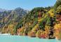 北アルプス山麓の秘境「高瀬渓谷」の紅葉と日本の100名城めぐり