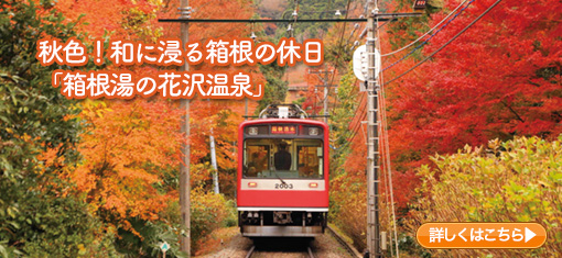 秋色!和に浸る箱根の休日「箱根湯の花沢温泉」