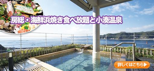 房総・海鮮浜焼き食べ放題と小湊温泉