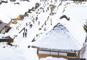 冬景色の大内宿とあがらんしょ東鳳グルメバイキング