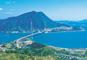 瀬戸内しまなみ海道から絶景の島々を望む!金刀比羅宮(こんぴらさん)と道後温泉